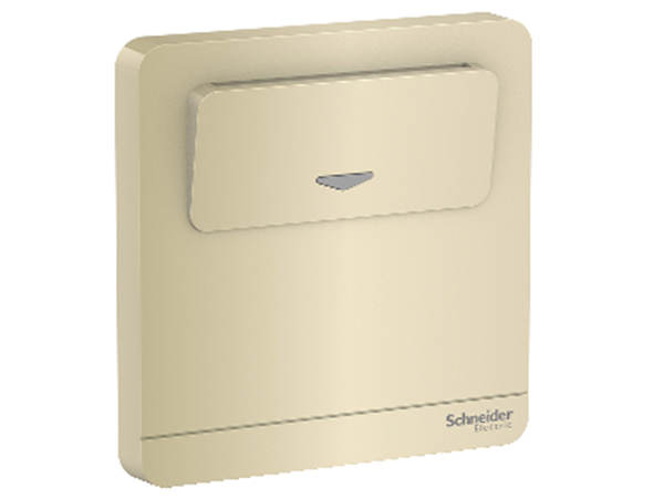 AvatarOn Series Switches and Sockets - 250V 16A Elec Keycard SW, Gold